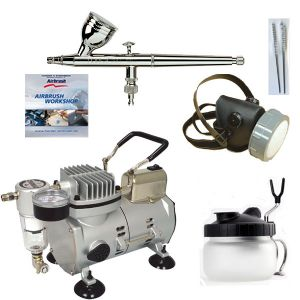 Airbrushing set with<br />Hansa 281 Chrome  0.3mm nozzle  & 5ml paint cup